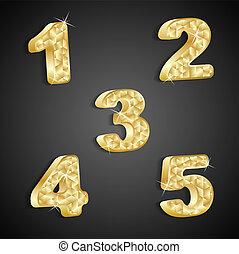 Vector set of golden numbers