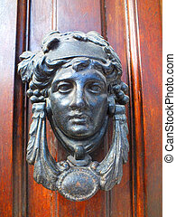 Door Knockers, La Antigua Guatemala - Mahogany Wood Doors,...