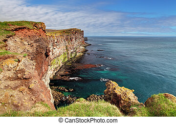 Cliff in Iceland -  latrabjarg