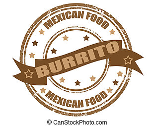 Burrito-stamp - Grunge rubber stamp, with the text Burrito...