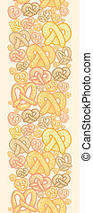 Pretzels vertical seamless pattern background border -...