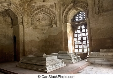 inside tomb in lodhi garden - inside view of lodhi garden...