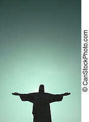 Cristo Redentor - Sunset over the Cristo Redentor in Rio de...