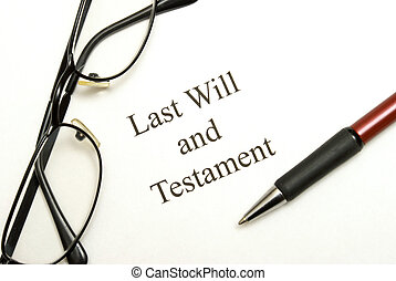 Last Will and Testament - A will agreement for the deceased...