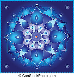 Cosmic Mandala - symmetrical elements forming a mandala