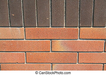 Brickwall - Close up of a brickwall showing unique pattern