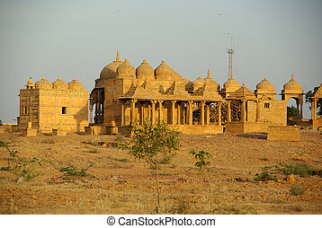 Rajput tombs, Rajasthan - Rajput tombs in Jaisalmer in...