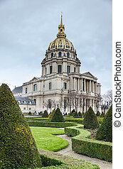 les, dôme, cathédrale, Les, Invalides, paris