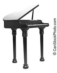 image with clipping path - model of a concert grand piano,...