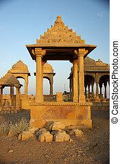 Rajput tomb, Rajasthan - Rajput tomb in Jaisalmer in...