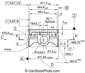 Example of industry document blueprint - Design drawings of...