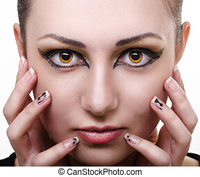 oriental make-up - wild hypnosis female portrait