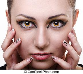 oriental make-up - wild hypnosis female portrait