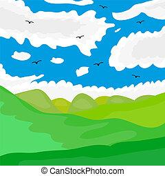 Summer landscape Vector Clip Art EPS Images. 47,390 Summer ...