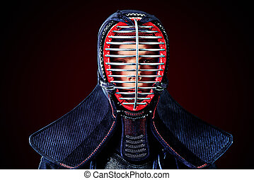 martial arts - Close-up portrait of kendo fighter Asian...
