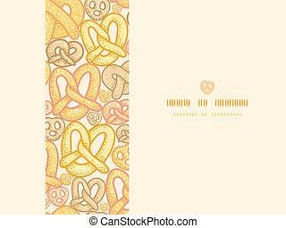 Pretzels horizontal seamless pattern background