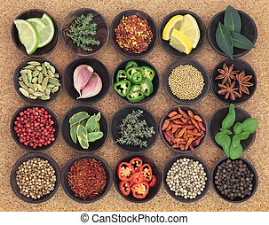 Food Seasoning Sampler - Large food seasoning selection in...