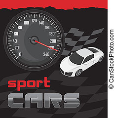 Sport cars. Icon for design. Vector illustration