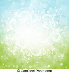 summer abstract background with bokeh lights