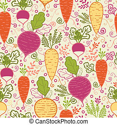 Root vegetables seamless pattern background