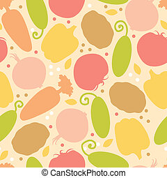 Yummy vegetables seamless pattern background