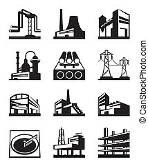Different types of industrial construction - vector...