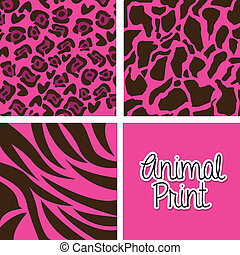 animal print over purple background vector illustration