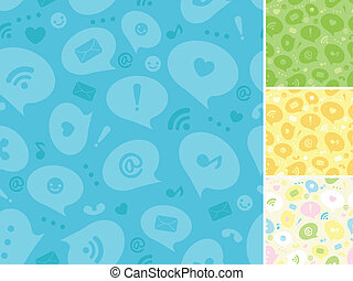 Internet message symbols seamless pattern background