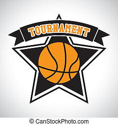 basketball tournament label