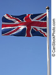 The Union Jack flag. - The Union flag (Union Jack) blowing...