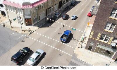 Downtown Memphis Pan Up - A camera pans up from Memphis...