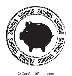savings seal - saving seal over white background vector...