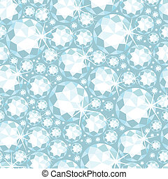 Shiny diamonds seamless pattern background - Vector shiny...