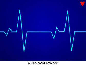 Electronic cardiogram ECG heart beat trace on a monitor