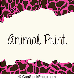 animal print over leopard skin background vector...