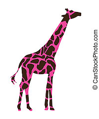 giraffe design over white background vector illustration