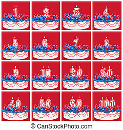 Collection of Birthday Number Candles - Number candles on...