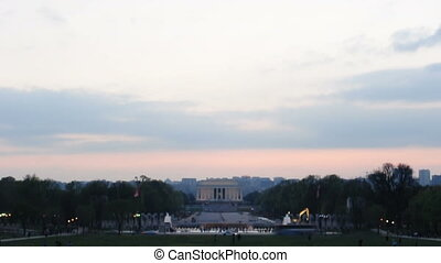 Lincoln Memorial Sky - A sky time-lapse of the Lincoln...