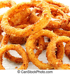 Onion Rings - Onion rings in closeup
