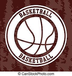 basketball label over vintage background vector illustration...