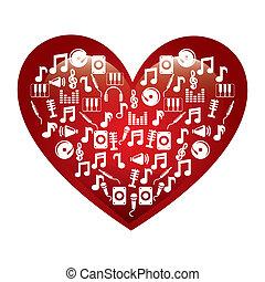 i love music design over white background vector...