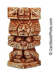 Ancient Mayan sculpture - old Mayan sculpture