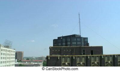 Aerial Pan Memphis - Camera pan in Memphis sky
