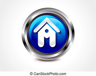 abstract glossy home button vector illustration