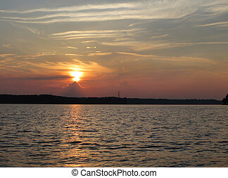 Sunset on Lake Norman in the Piedmont of North Carolina