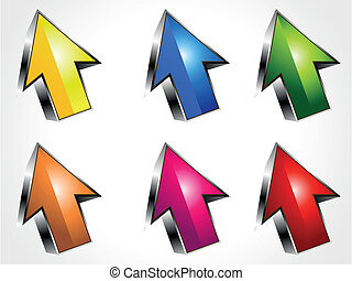 abstract 3d arrow icons vector