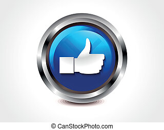 abstract glossy like button vector illustration