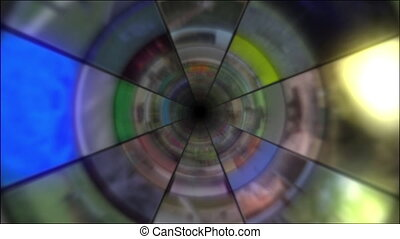 Video Clips Tunnel Vortex 25P - Fy through infinite 3D...
