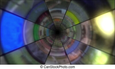 Video Clips Tunnel Vortex - Fy through infinite 3D tunnel...