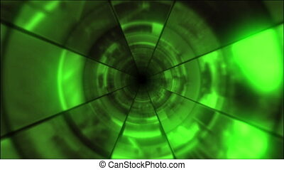 Video Clips Tunnel Vortex Cycle 24P - Fy through infinite 3D...